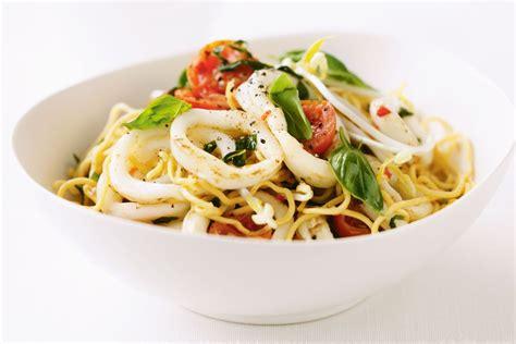 squid basil  chilli noodle stir fry recipes
