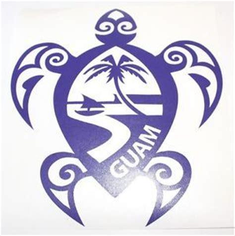 haggan guam seal sea turtle vinyl car decal chamorro  sizes    clipart  clip art