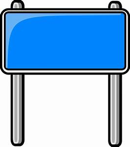 highway sign blue - /blanks/road_signs/highway_signs ...