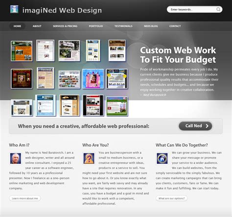 home decor website rebuilding this portfolio site imagined web design