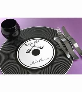 Set De Table Vinyl : 6 sets de table personnaliser vinyle en carton ronds drag e d 39 amour ~ Teatrodelosmanantiales.com Idées de Décoration
