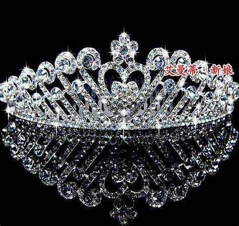 charming bridal crown diamond tiara wedding headwear