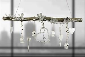 Deko Kristalle Zum Aufhängen : creatina ast aus buchenholz zum aufh ngen fr hlingshaft dekoriert 120 cm lang ~ Eleganceandgraceweddings.com Haus und Dekorationen