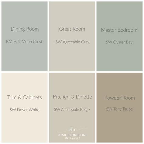 whole house color palette home colors