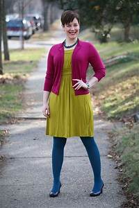 17 Best images about Colored Tights on Pinterest | Pretty outfits Turquoise cardigan and Tweed ...