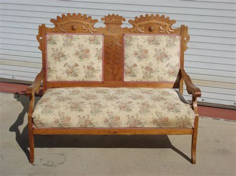 chairs and settees american antique settee sofa bench eastlake