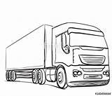 Truck Delivery Drawing Trailer Transport Getdrawings Service Drawn sketch template