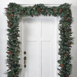 classic pre lit garland decor traditional wreaths and garlands by