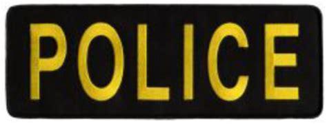 Chicago Police Gold Black Shirt Jacket Uniform Back Patch
