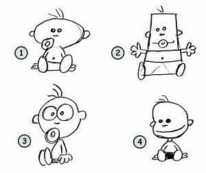 Drawing cartoon babies