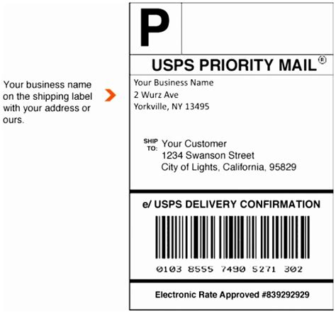 usps shipping label template word wpato templatesz