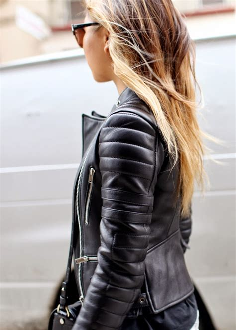 stunning leather jackets spotted  spring