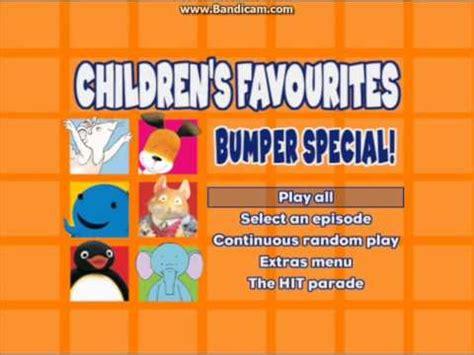 children s favourites bumper special dvd menus 2003 youtube