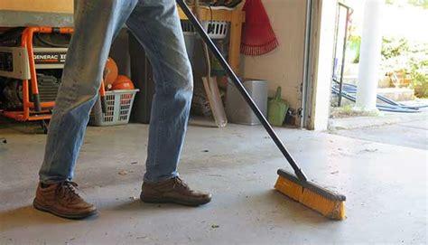 easy steps  clean concrete garage floor  video