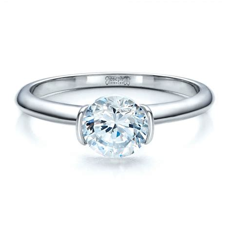 half bezel solitaire engagement ring 1480 seattle bellevue joseph jewelry