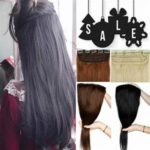ONE PIECE CLIP IN HUMAN HAIR EXTENSIONS REMY REAL 34 FULL