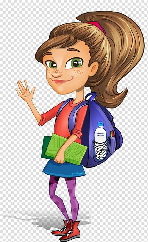 woman  ponytail carrying  books painting student