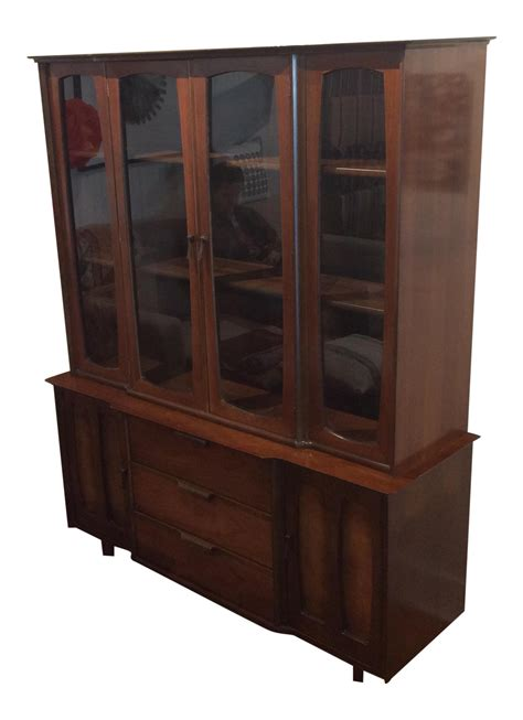 kitchen cabinets display mid century modern china cabinet by stanley chairish 2972