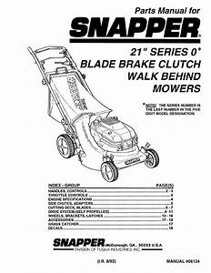 Snapper Lawn Mower 06134 User Guide