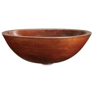 Oval Vessel Sink Home Depot by Ecosinks Solid Aged Copper Oval Vessel Sink At Home Depot