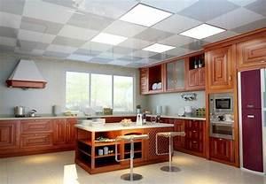 eclairage faux plafond cuisine cobtsacom With carrelage adhesif salle de bain avec fabricant dalle led