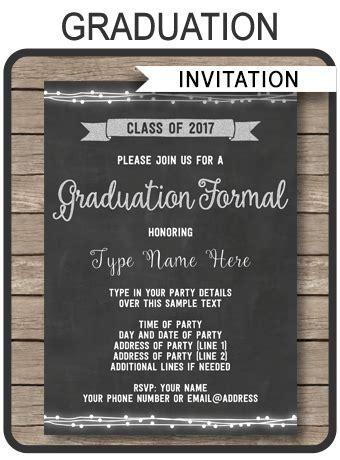 graduation formal invitation printable high school