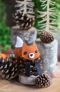 Basteln Kindern Weihnachten Tannenzapfen : felt pinecone fox tannenzapfen herbstdeko und filz ~ Whattoseeinmadrid.com Haus und Dekorationen