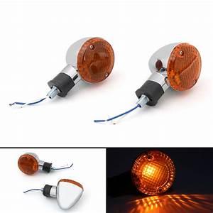 Turn Signal Bullet Lights Motor For Kawasaki Vulcan 800