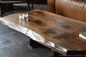 Table Bois Massif Design : table contemporaine en bois massif ~ Teatrodelosmanantiales.com Idées de Décoration