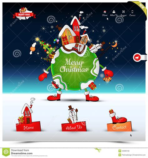 christmas night website template royalty  stock images