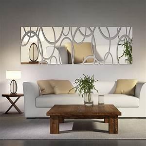 Bedroom mirror wall decor : Acrylic mirror wall decor art d diy stickers living