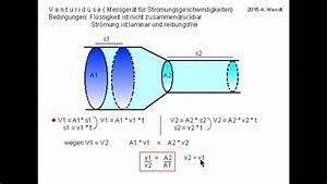 Venturidüse Berechnen : str mungsgeschwindigkeiten venturid se youtube ~ Themetempest.com Abrechnung