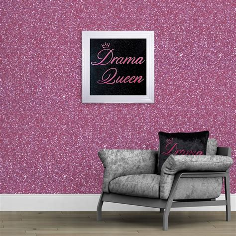 cm wide pink glitter fabric wall covering