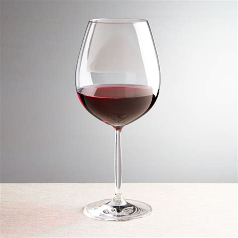 vino red wine glass crate  barrel