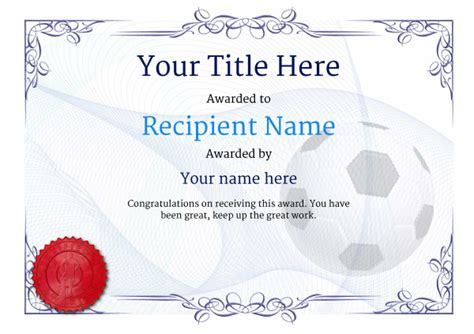 Football Certificate Templates by Free Uk Football Certificate Templates Add Printable