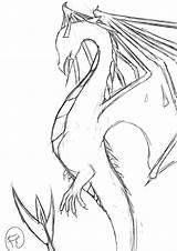 Wyvern Sketch Deviantart Drawings sketch template
