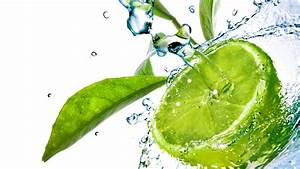 Full HD Wallpaper lime spray water leaf fruit, Desktop ...
