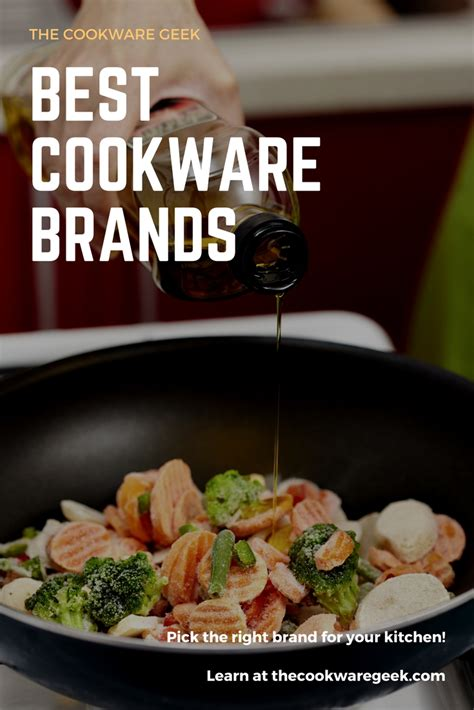 brands cookware contents table