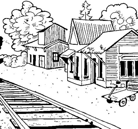 train station coloring page coloringcrewcom