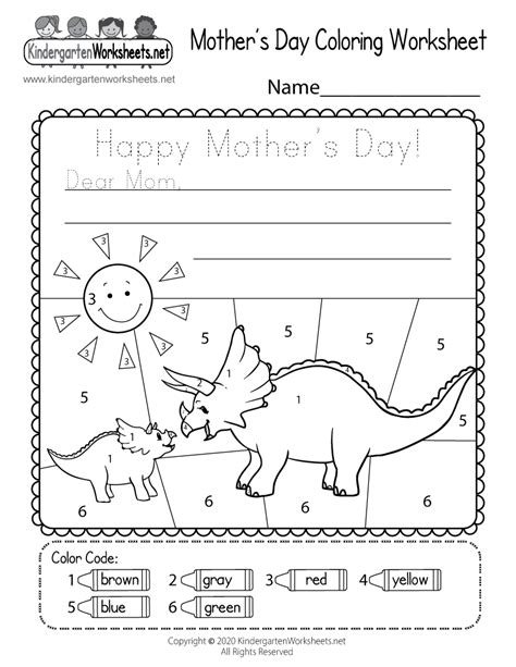 printable mothers day coloring worksheet