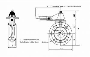 2 To 8 Inch  In  Lever Handle Type Butterfly Valves