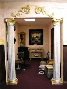 interior home columns supportive interior columns with gold leaf