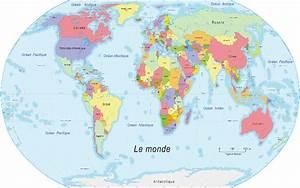 Carte Du Monde Noir : carte les pays du monde ~ Teatrodelosmanantiales.com Idées de Décoration