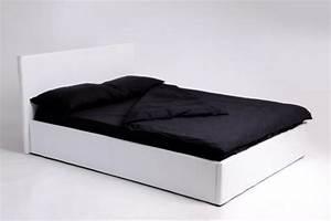 Sommier Lit 140x190 : lit coffre 140x190 blanc avec sommier lit design pas cher ~ Teatrodelosmanantiales.com Idées de Décoration