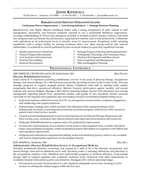 Rehab Resume by This Free Sle Was Provided By Aspirationsresume