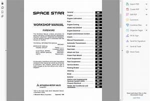Official Workshop Service Repair Manual Mitsubishi Space