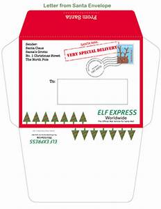 santa template letter new calendar template site With letter from santa envelope