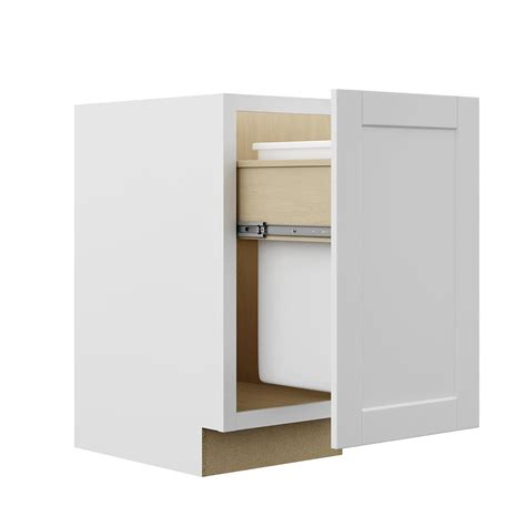 pull out trash cabinet hton bay shaker assembled 18x34 5x24 in pull out trash