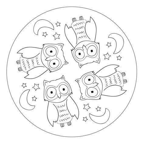 owl mandala  pre  kindergarten  elementary school