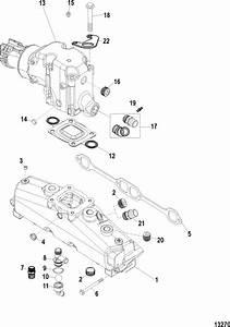 Mercruiser 350 Mag Mpi Alpha    Bravo Exhaust Manifold